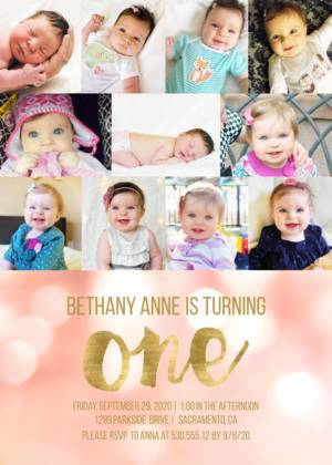 Bokeh 1st Birthday Collage Baby S First Birthday