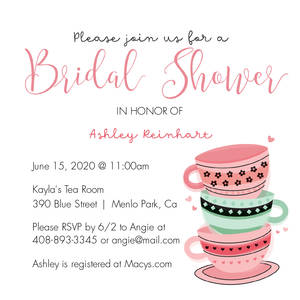 Tea Party Bridal Shower