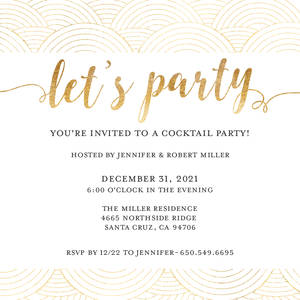 Simple Gold Party Invitation