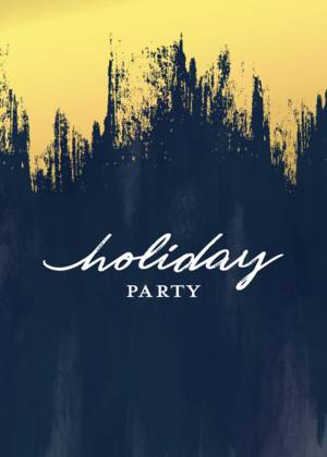 Holiday Party Brush Strokes