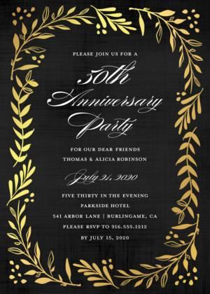 Anniversary Party Invitations And Photo Invite Templates