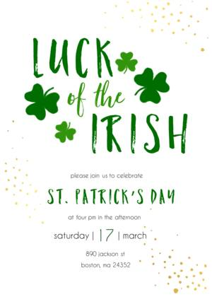 Shamrock Party Invitation