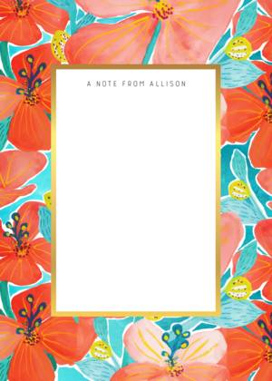 Hibiscus Stationery by Casey D. Sibley