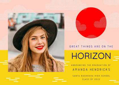 Great Things on the Horizon Graduation by Hello!Lucky