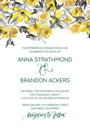 Watercolor Wedding Florals by the Pigeon Letters