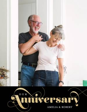 Glittered Wedding Anniversary