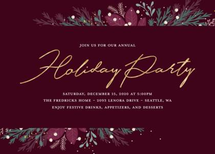 Holiday Foliage Party