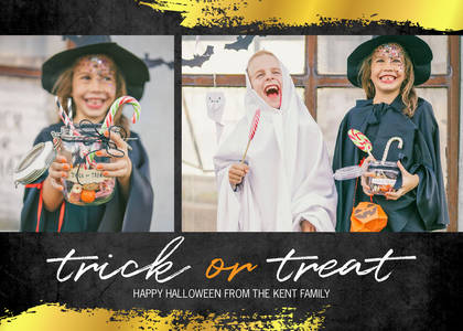 Hand-lettered Trick or Treat