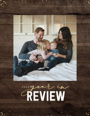 Rustic Wooden Year in Review