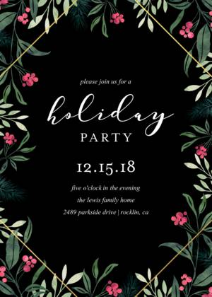 Office Christmas Party Invitation.Holiday Party Invitation Templates Company And Office