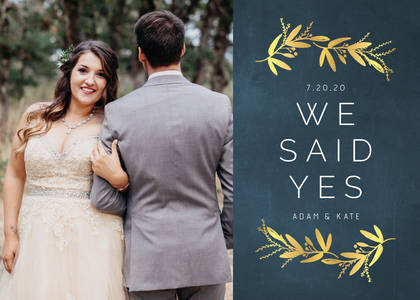 Olive Leaf Wedding Announcement
