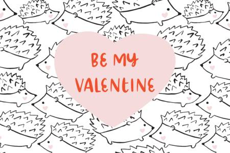 Hedgie Valentine's Day by Black Lamb Studio