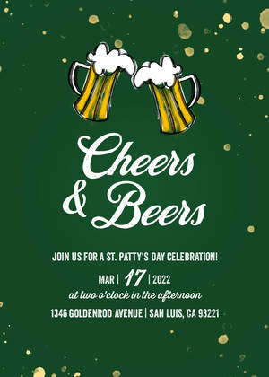 Cheers and Beers Patty's Day Invite