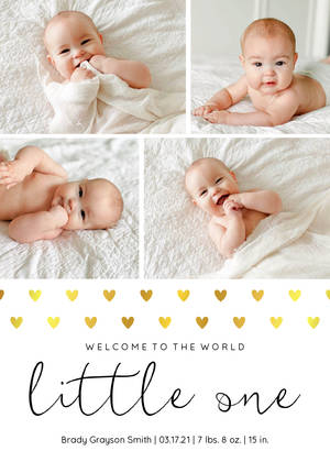 Welcome Little One Hearts