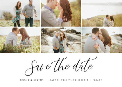 Modern Collage Save the Date