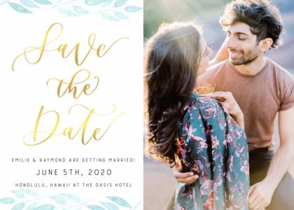 Save the Date by Letters by Shells