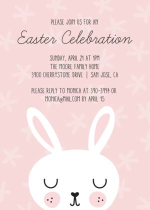 Easter Bunny Party Invitation