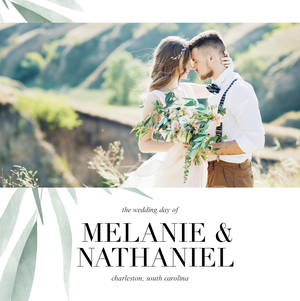 Watercolor Greenery Wedding