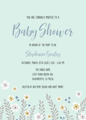 Teal Flowers Baby Shower By Cathy