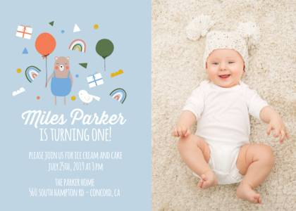 First Birthday Invitations Online Mixbook