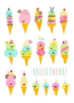 Ice Cream Notecard by Hello!Lucky
