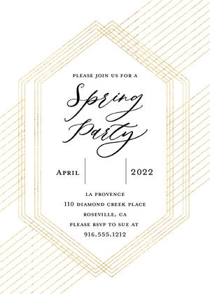 Metallic Modern Spring Party