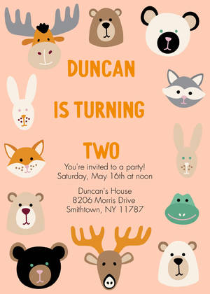Woodland Animal Birthday by The Tiny Garden