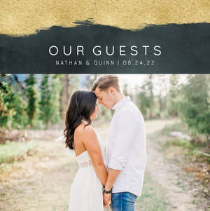 Modern Geometric Wedding Guest Book