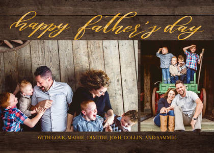 Full Photo Father's Day Script