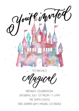 Magical Castle Birthday by Electric Eunice
