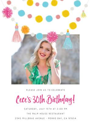 Fiesta Birthday Party Invitation by Pennie Post