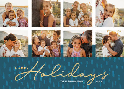 Happy Holidays Script Collage