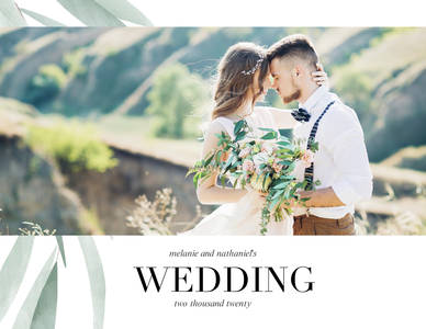 Watercolor Greenery Wedding Calendar