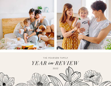 Modern Floral Year in Review Calendar