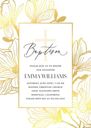 Baptism Photo Invitations And Christening Cards Template