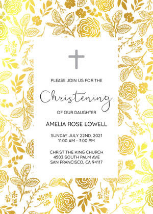 Foliage Foil Christening