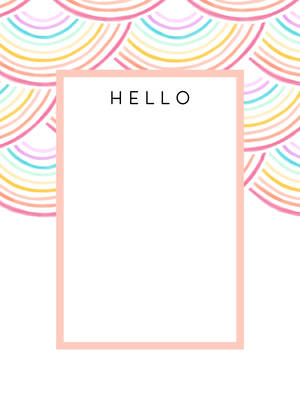 Colorful Notecard