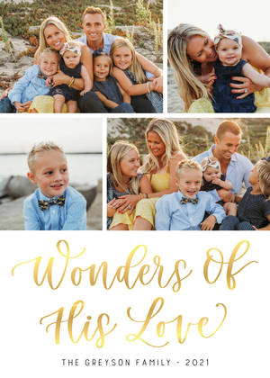 Wonders of His Love by Letters by Shells