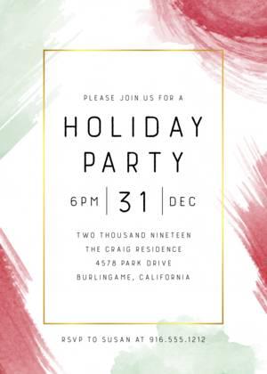 Holiday Party Invitation Templates Company And Office Invites