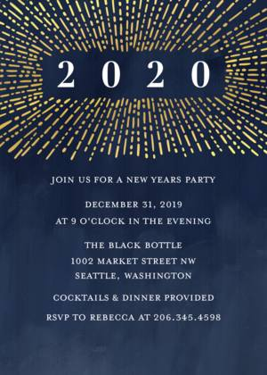 New Year S Photo Cards New Years Party Invitations