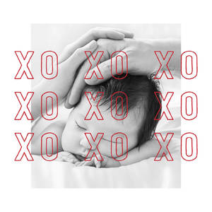 Modern XO XO XO Folded Photo Card
