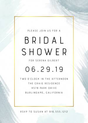 Abstract Bridal Shower