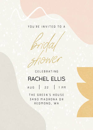 Abstract Shapes Bridal Shower
