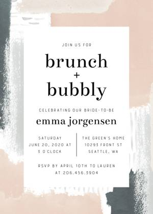 Abstract Painted Bridal Shower