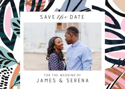 Abstract Painted Save The Date