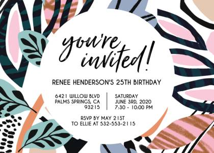 Painted Abstract Birthday Invite