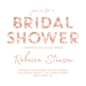Bold Floral Bridal Shower By Yellow Heart Art