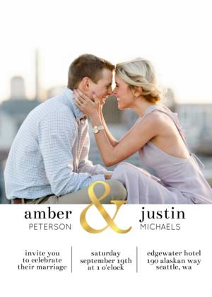 Bold Ampersand Wedding