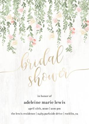 Cascading Floral Bridal Shower
