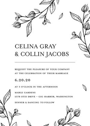 Outlined Floral Wedding